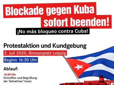 Blockade gegen Kuba sofort beenden! – Protestaktion und Kundgebung