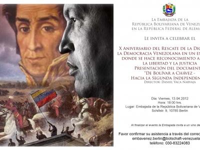 Berlin: 10. Jahrestag des Putsches gegen Hugo Chávez
