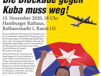 Hamburg: Sanktionen und Menschenrechte – Die Blockade gegen Kuba muss weg!