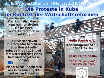 Berlin: Die Proteste in Kuba im Kontext der Wirtschaftsreformen