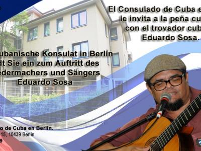 Berlin: Konzert mit kubanischem Liedermacher Eduardo Sosa