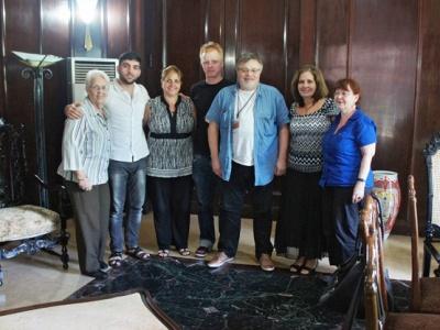 Mitglieder des Netzwerk Cuba und der Autor des Berichtes beim Solitreffen mit An