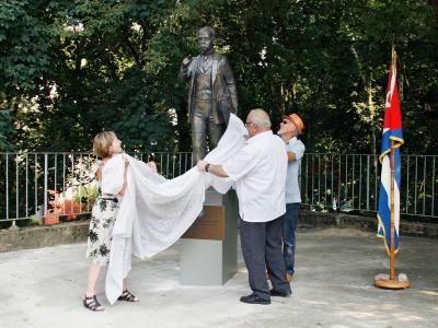 Die Enthüllung der Martí-Statue