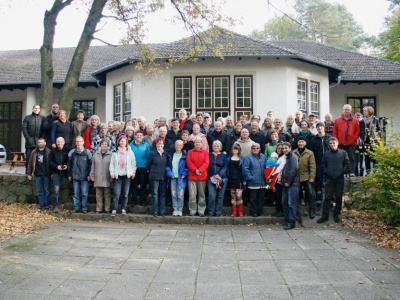 Die Teilnehmer des diesjährigen Bundestreffens in der Begegnungsstätte am Werbellinsee
