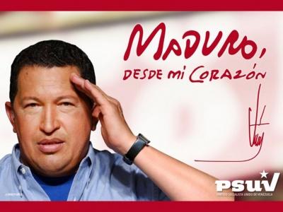 Herzenswunsch von Hugo Chávez: Maduro solle sein Nachfolger werden.