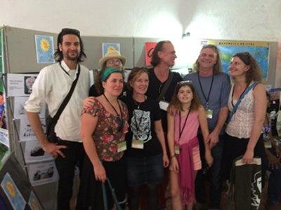 Wenzel, Band & Familie - hier mit Heike Thiele von Cuba Sí