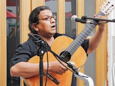 Lautaro Valdés bei einem Auftritt in Berlin