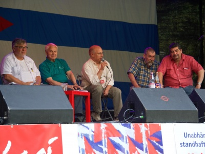 Iroel Sánchez auf der Fiesta de Solidaridad