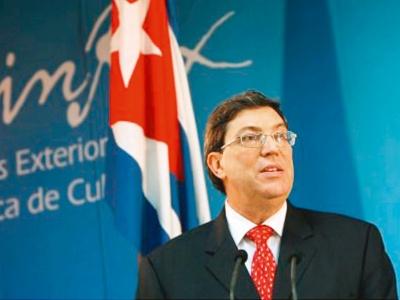 Der kubanische Außenminister Bruno Rodríguez fand deutliche Worte gegen Doppelmoral, Scheinheiligkeit und Missbrauch der UNO-Institutionen durch die Industrienationen. Foto: A. Ernesto EPA