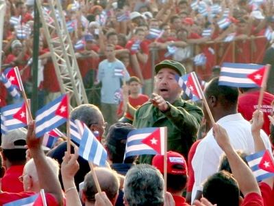 Fidel Castro am 1. Mai 2005