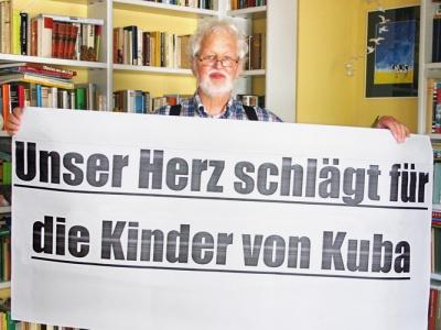 Immer auf Achse für Kubas Kinder: Klaus Jann aus Wülfrath.
