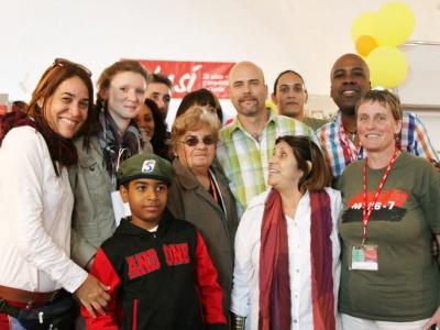 Gerardo Hernández mit Vertretern von ACPA und Cuba Sí