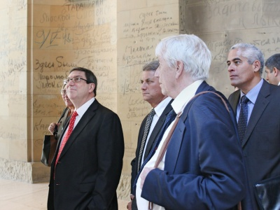 Der kubanische Außenminister Bruno Rodríguez Parrilla im Bundestag