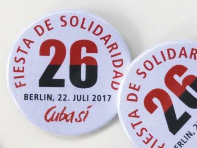 Fiesta de Solidaridad - Unterstützer-Button