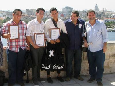Die Preisträger des Journalistenwettbewerbs