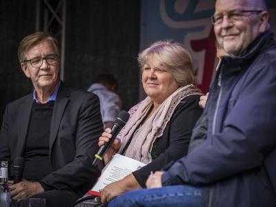 Talkrunde mit Aleida Guevara, Dietmar Bartsch und Volker Hermsdorf