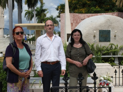 Am Grab von Fidel in Santiago de Cuba