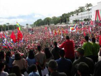 Die Jugend verteidigte den Frieden, verurteilte die Gewalt in Lateinamerika und unterstützte die Erfolge des revolutionären Prozesses in Venezuela, Photo: Präsidentschaftspresse Venezuela/Granma