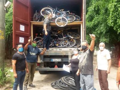 Fahrradspenden aus Gera und Chemnitz