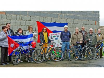 Fast geschafft! Ein Teil der gespendeten Fahrräder kurz vor der Verladung. Foto: Cuba Sí-Wartburgregion