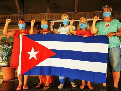 Vor dem Rückflug am 30. März 2020, Foto: Cuba Sí