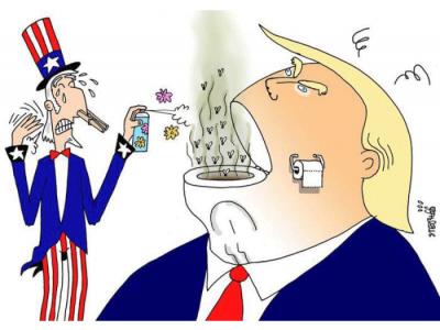 Trump-Karikatur