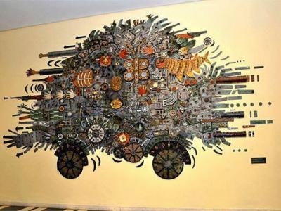Der Streitwagen der Revolution, ein Werk des Malers und Graveurs Alfredo Sosabravo, Foto: Granma
