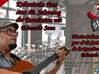 Leipzig: Konzert mit kubanischem Liedermacher Eduardo Sosa