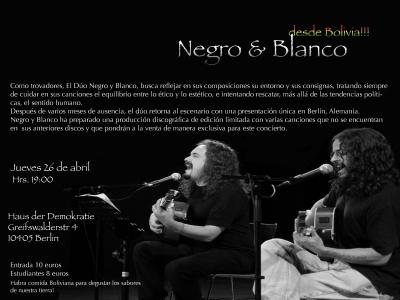 Berlin: Konzert mit Blanco & Negro (BOL)