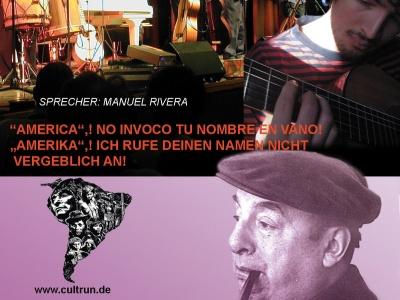 Berlin: Konzert mit Tiempo Nuevo und Texten von Pablo Neruda