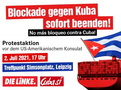 Leipzig: Kundgebung für ein Ende der US-Blockade