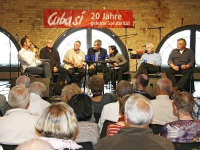 Podiumsdiskussion in der Kulturbrauerei zum Thema Kuba nach dem 6. Parteitag