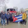 """Die vom Radfahrerclub """"Solidarität"""" 1895 Gera e.V. gesammelten Fahrräder werden am 29. Februar 2020 für den Transport nach Berlin verladen.  Fotos: Cuba Sí Gera, Cuba Sí Berlin"""
