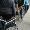 Rollstühle in Warteschleife