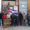 Gemeinsamer Solidaritätscontainer der Solibewegung