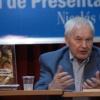 Hans Modrow in der Debatte mit dem kubanischen Publikum.