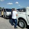 4. März: Ankunft auf dem Flughafen Holguin und Abholung durch ACPA-Guantánamo mit dem neuen Jeep, Foto: Claudia Gerathewohl