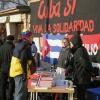 Cuba Sí - Informationsstand auf der jährlichen Demonstration für Rosa Luxemburg und Karl Liebknecht.