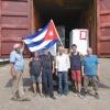 Gruppenfoto beim Containerpacken