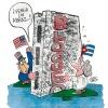Eine Umarmung ... (Karikatur: José Luis, Kuba)