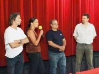 Hans-Peter Weymar und René Rico im Gespräch mit Braunschweiger Kinogängern