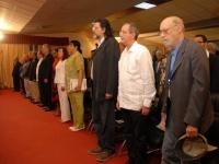 Vertreter aus Kuba und Ecuador bei der Eröffnung der Buchmesse