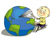 Leseland Kuba (Karikatur: Martirena)