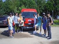 Die jungen Flüchtlinge auf ihrer Tour an die Ostsee