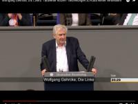Wolfgang Gehrcke (DIE LINKE) spricht für Kuba im Deutschen Bundestag
