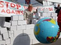 Aktion gegen die Blockade auf der Manifiesta