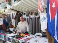 Cuba Sí-Stand beim Brückenfest in Frankfurt/Oder